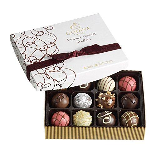 Gourmet Chocolate Truffles (Godiva Chocolatier Ultimate Dessert Truffles Gift Box, 12)