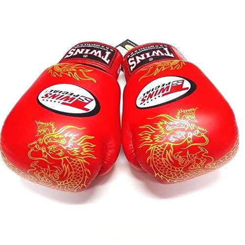 TWINS SPECIAL ボクシング ムエタイ グローブ 龍赤 本革製  16oz