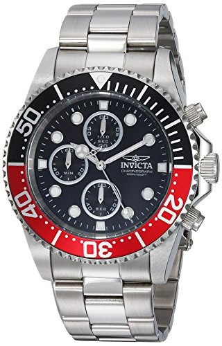 Invicta Men's 'Pro Diver' Quartz Stainless Steel Diving Watch, Color:Silver-Toned (Model: 1770) by Invicta