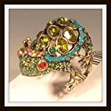 """Heidi Daus """"toad-ally"""" Crystal Accented Frog Prince Ring"""