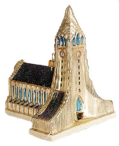 (Reykjavik, Iceland Hallgrimskirkja Cathedral Lutheran Church of Iceland Landmark Polish Glass Christmas Ornament Travel Souvenir)