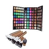 Baosity 120 Colores Paleta de Sombras de Ojos en Polvo Makeup Profesional con 9 Unidades Cepillos Cosméticos