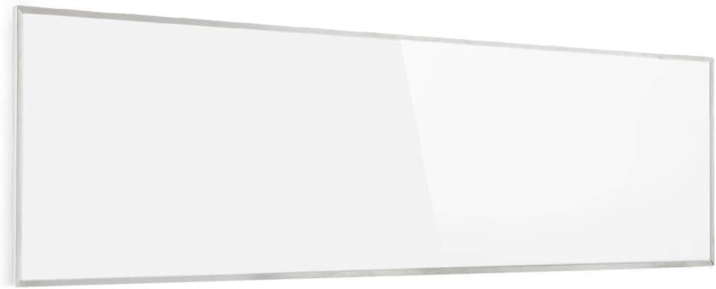 KLARSTEIN Wonderwall - Calefactor infrarrojo, Calefactor portátil, Tecnología de Cristal de Carbono, Programable, Autoapagado, para alérgicos, IP24, Panel de 30 x 100 cm, 300 W, Blanco