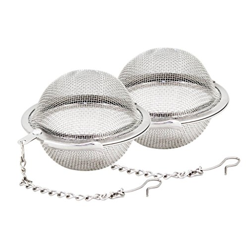 Great Credentials 2 pcs Stainless Steel Mesh Tea Ball Tea Infuser Strainers Tea Strainer Filters Tea Interval Diffuser for Tea