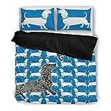 Amazing Dachshund Print Bedding Set - Dog Lovers Gifts - Custom Cover Print Design Pillow Cases & Duvet Blanket Cover - Pet Gift Ideas