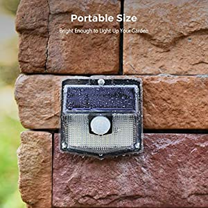 140 LED Solar Lights Outdoor, Mpow Motion Sensor Security Light with 3 Lighting Modes, 270°Wide Angle, IPX7 Waterproof…
