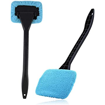 Bluefringe Super Soft Microfiber Car Dash Duster, Car Interior Cleaning and Home Use Dusting Brush