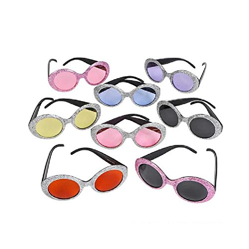 Pop Star Glitter Sunglasses (With Sticky - Array Sunglasses