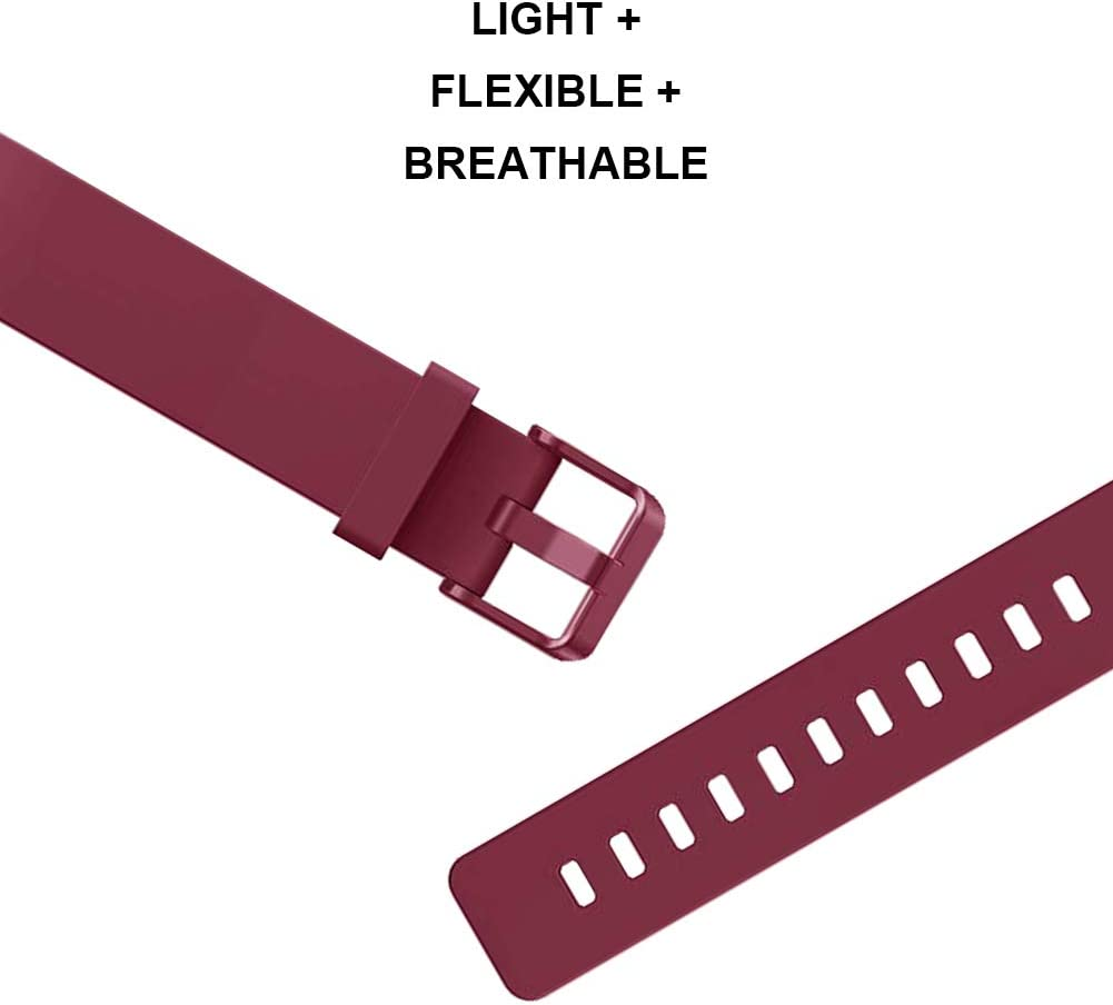 FunBand Compatible Fitbit Inspire /& Fitbit Inspire HR Strap Easy Adjust Soft Silicone Sport Replacement Accessory Bracelet Straps for Fitbit Inspire//Inspire HR Fitness Activity Wristband