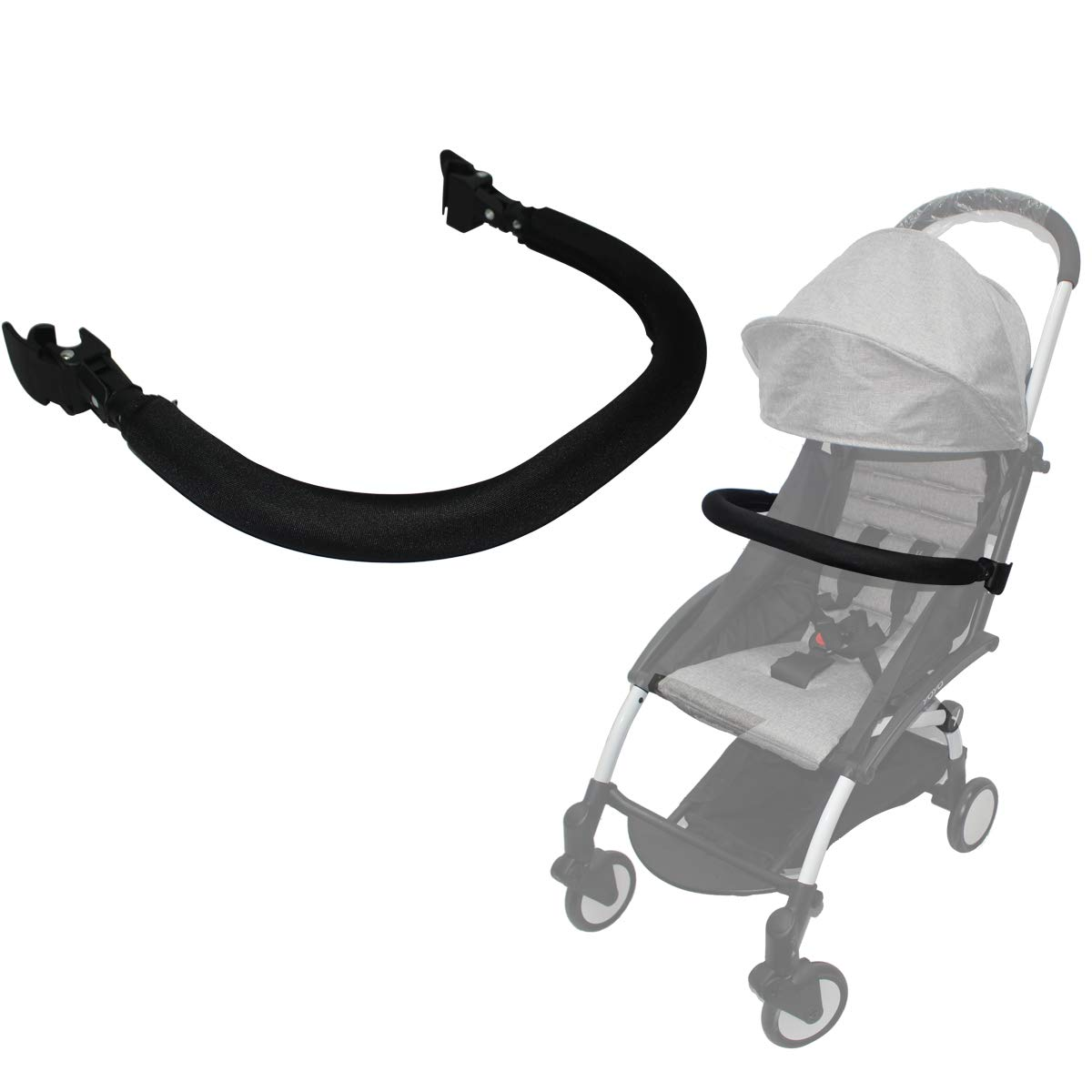 Amazon.com: Bumper Bar,Armrest,Handle,Crossbar for Babyzen YOYO YOYO+ Baby Stroller (Oxford Cloth): Baby