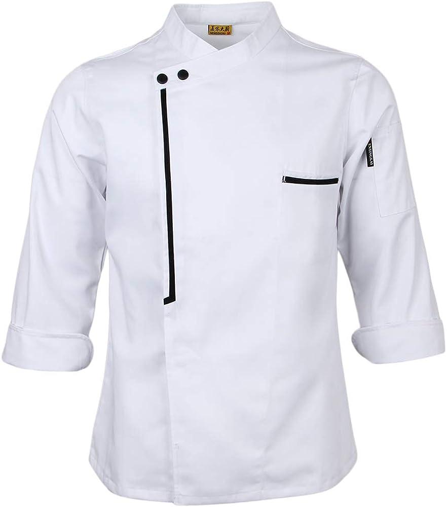 IPOTCH Chaqueta de Chef Cocina Ropa de Hostelería Aficionados ...