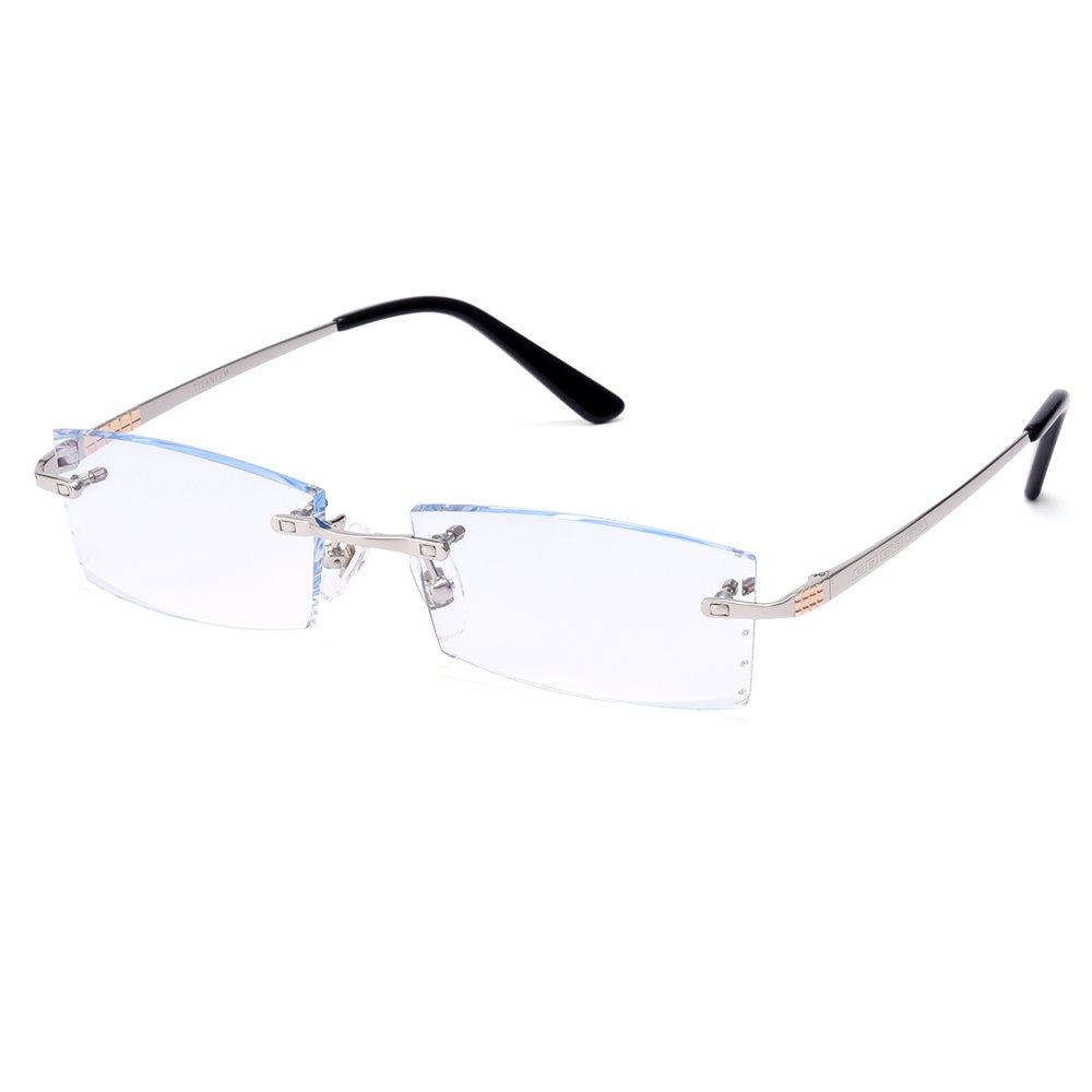 Gmei Optical Q5801 Rimless Diamond Cutting Lenses Eyeglasses Frame for Men Eyewear