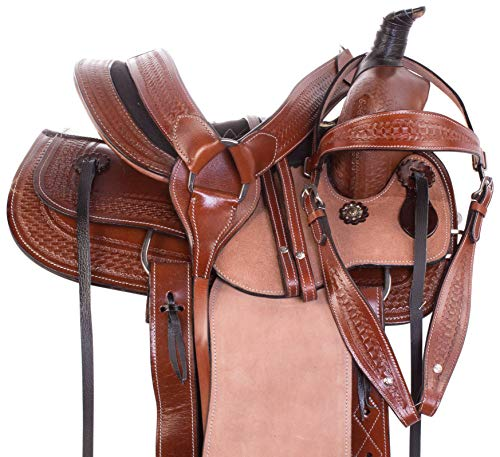"(AceRugs Little Cowboy Western Roping Leather Horse Pony Saddle Youth Kids TACK Set 10"" 12"" 13"" (12))"