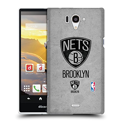 Official NBA Distressed Brooklyn Nets Hard Back Case for Sharp Aquos Zeta SH-04F