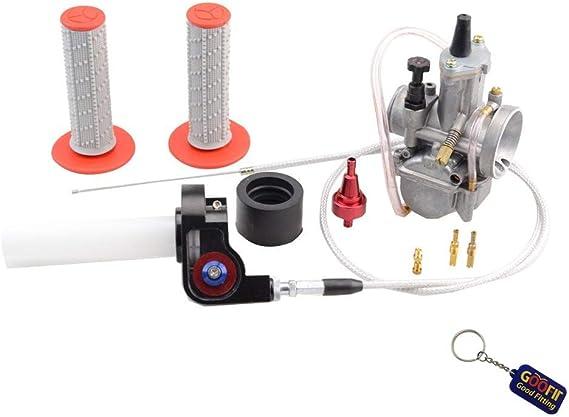 Goofit 34mm Vergaser Sichtbare Twister Cable Pwk Tuning Power Jet Accélération Pompe Fall 250cc 300cc Atv Für Rouge Auto