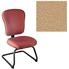 Office Master PA Collection PA61S Ergonomic Cantilever-based Side Chair - No Armrests - Grade 1 Fabric - Spice Sesame Beige 1166 PLUS Free Ergonomics eBook