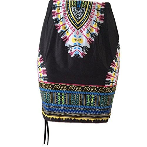 Totem Floral Print Mini Dress (Black) - 8