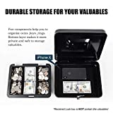 Cash Box with Money Tray,Small Safe Lock Box with