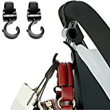 Stroller Hook,Dealgadgets 2 Pack Multi Purpose Hooks Hanger for Baby Diaper Bags, Groceries, Clothing, Purse Black