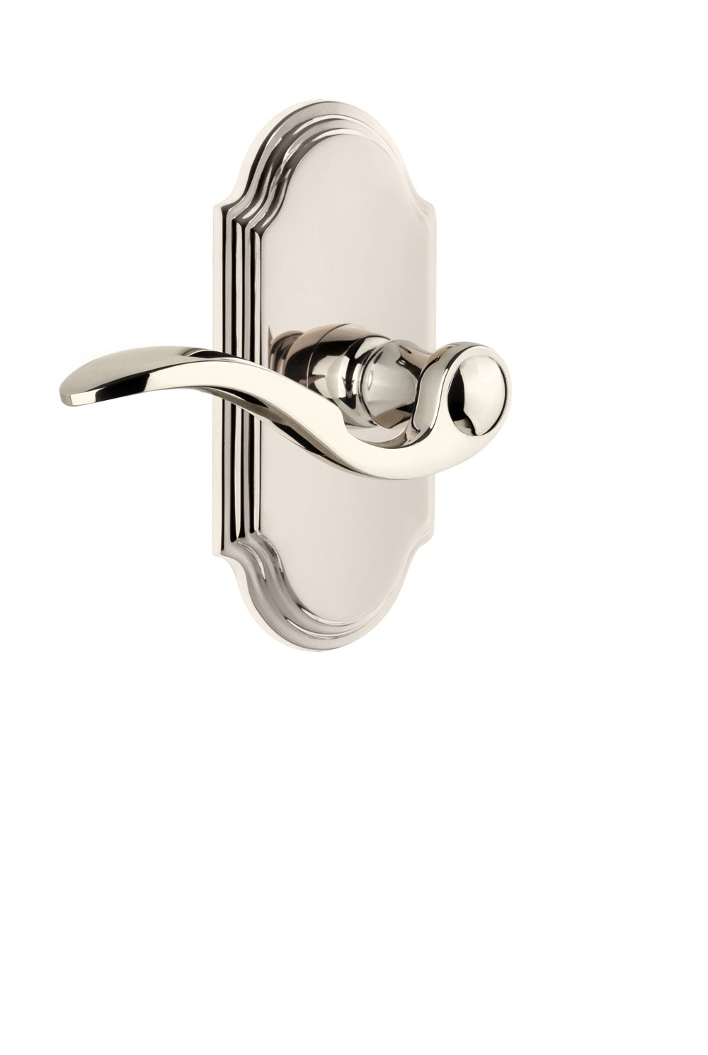 2.375 Right-Handed Grandeur 811162 Arc Plate Passage with Bellagio Lever in Antique Pewter