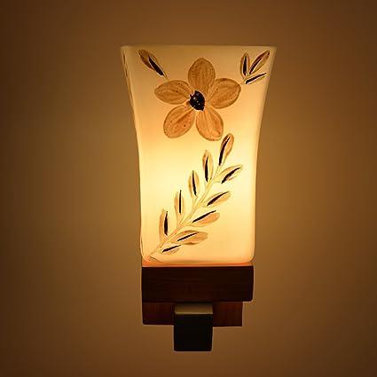 Jyatu Decorative Wooden and Glass White Sconce New Design Decorative ...