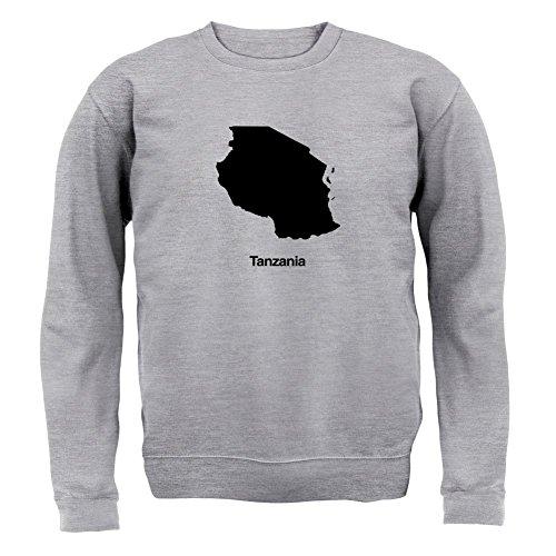 Dressdown Tanzania Silhouette - Kids Jumper / Sweater - Heather Grey - XXL (12-13 (Tanzania Sweater)
