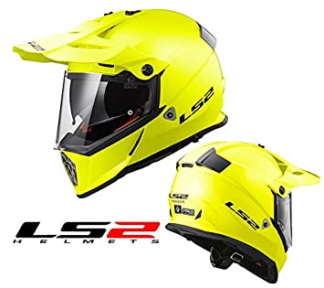 Casco off-road LS2 mx436 Pioneer Gloss Hi-Vis Yellow Trail Trekking moto amarillo