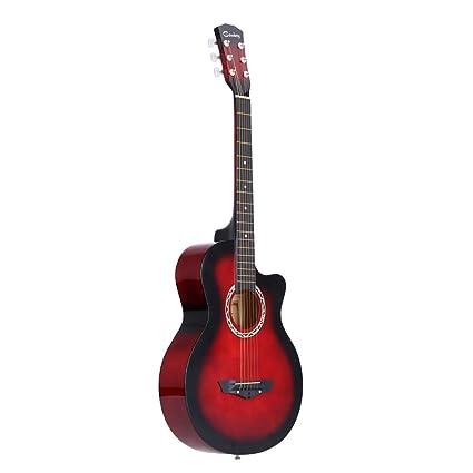 "ammoon 38 "" Guitarra Acústico Folclórica 6 Cuerdas para Principiantes Estudiantes Regalo"