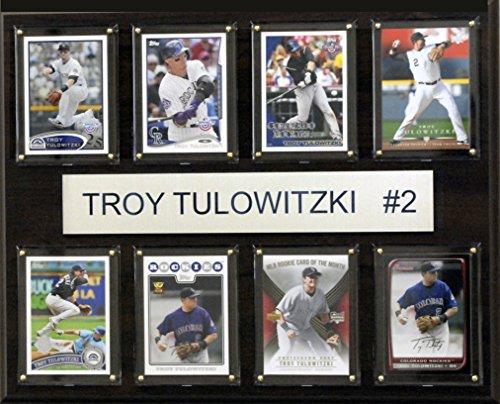 MLB Colorado Rockies Troy Tulowitzki 8-Card Plaque, 12 x 15-Inch ()