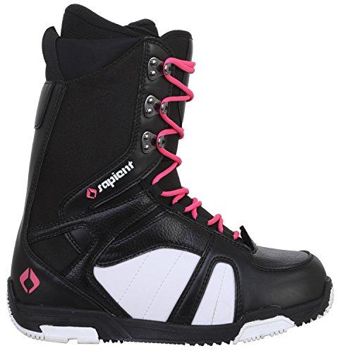 Sapient Proven Snowboard Boots Black/White Womens Sz 8 (Womens Snowboard Boots Black)