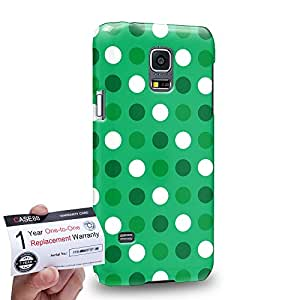 Case88 [Samsung Galaxy S5 Mini] 3D impresa Carcasa/Funda dura para & Tarjeta de garantía - Art Design Dotted St Patrick