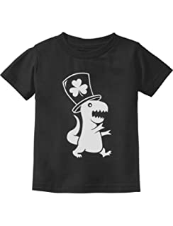 Irish T-Rex Dinosaur Clover Hat St Patricks Day Short Sleeves T-Shirts