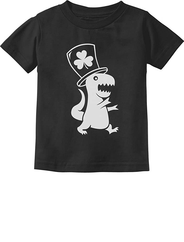Irish T-Rex Dinosaur Clover Hat St. Patrick's D Toddler/Infant Kids T-Shirt GtPhPMtgm5