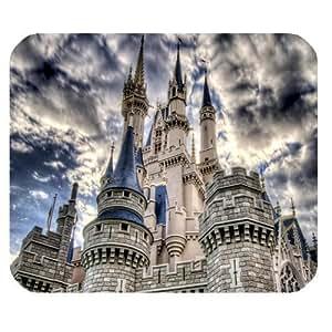 Disney Castle Durable Cloth Mouse Pad Cartoon Standard Black Mouse Mat
