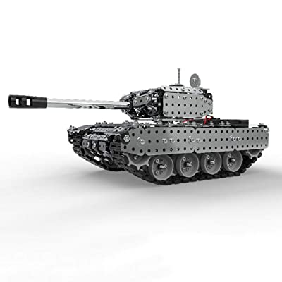 GoolRC 952Pcs RC Battle Tank Car Building Blocks Educational Toys Stainless Steel Remote Control RC Toy Gift for Kids Boys: Toys & Games