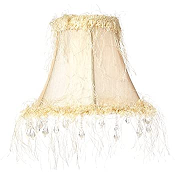 Livex Lighting S158 Bell Clip Chandelier Shade with Amber Beads ...