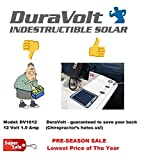 Solar Battery Charger - 16.6 Watt 1 Amp - Boat, RV, Marine & Trolling Motor Solar Panel - 12 Volt - No experience Plug & Play Design. Dimensions 14.1'' L x 15.7'' W x 1/4'' Thick. 10' cable.