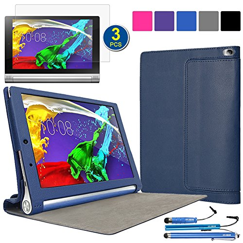 on sale 01199 a1361 BIRUGEAR Lenovo Yoga Tablet 2 10 inch Case, SlimBook Leather Folio Smart  Cover Case for Lenovo Yoga Tablet 2 (10'' ) Android (1050F) / Windows  Version ...