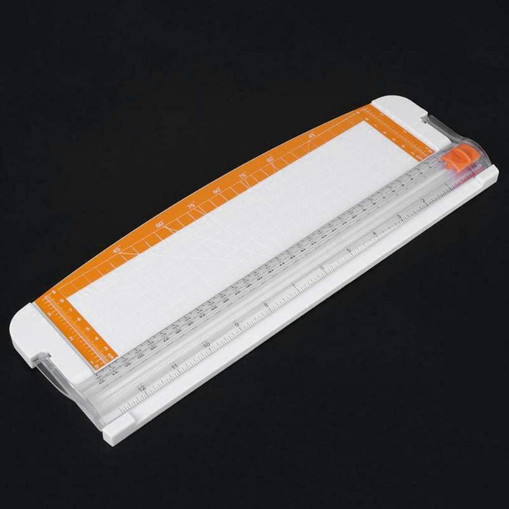Schneidemaschine Fotoalben H87yC4ra Pr/äzisions-Schneidemaschine Scrapbooking Schneidemaschine A3//A4//A5 f/ür Karten Wei/ß//Orange