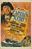 Captain Kidd POSTER Movie (1945) Style B 11 x 17 Inches - 28cm x 44cm (Charles Laughton)(John Carradine)(Randolph Scott)(Reginald Owen)(Gilbert Roland)(Barbara Britton)(John Qualen)