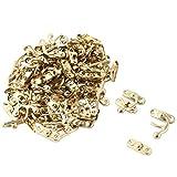 uxcell Metal Family Retro Style Bag Hasp Lock Jewelery Box Latch Buckle 50pcs Gold Tone