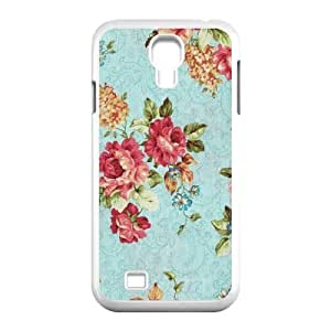 Retro Floral Series Unique Design Cover Case for SamSung Galaxy S4 I9500,custom case cover ygtg597804
