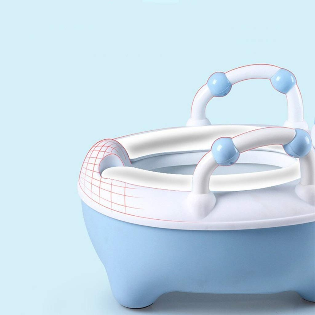 XWJC Children's Toilet Child Urinal Cartoon Large Drawer Baby Toilet Male and Female Baby Toilet (Color : Blue) by XWJC (Image #4)