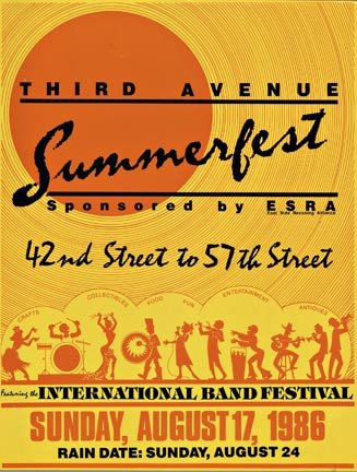 Third Avenue Summerfest - Vintage Music Poster at Amazon's