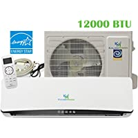 12000 Btu (1 Ton) 20.5 SEER Mini Split Air Conditioner Inverter Ductless System & Heat Pump, Heating, Cooling, Dehumidification, Ventilation. Comes with 15 Feet Installation Kit. 208~230 VAC