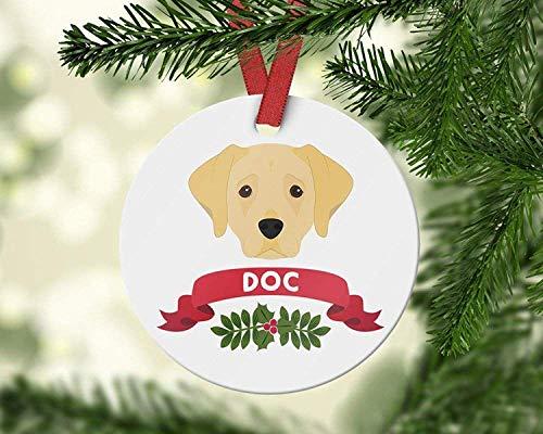 (Labrador Retriever Christmas Ornament Pet Ornaments Custom Dog Ornament Labrador Retriever Gift Personalized Ornament Family Christmas Decoration Funny Wall Decals Decor Vinyl Sticker Q4078)