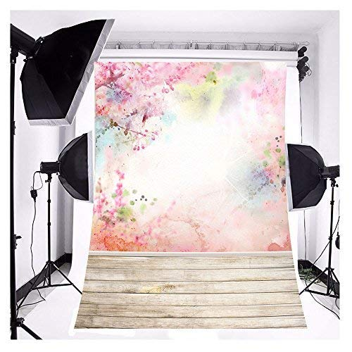 FUT 3x5ft Romantic Spring Flower Peach Blossom Backdrop for Wedding Baby Newborn