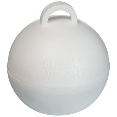 Bubble Weight Balloon Weight, 35 gram, White, 10 Piece: Toys & Games