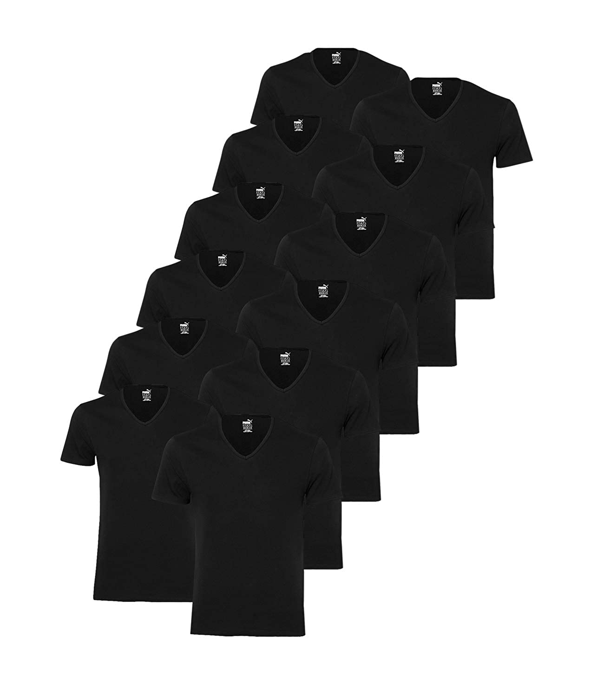 Puma 12 er Pack Basic V Neck T Shirt Men Herren Unterhemd V