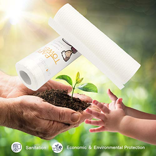 GINEKOO Kitchen Paper Towel Roll - Eco Friendly with Strong and Absorbent, Multipurpose & Washable, 50 Sheets / Roll